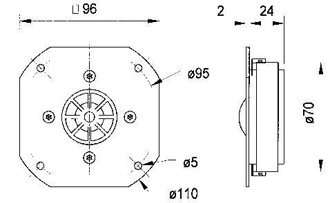Vysokotónový reproduktor VISATON DSM25FFL-8