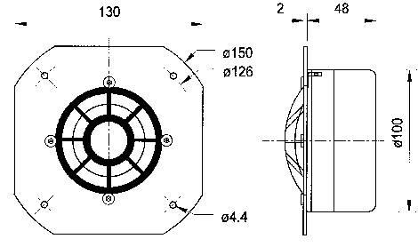Strednotónový reproduktor DSM50FFL-8 VISATON