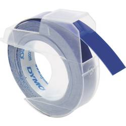 Páska do štítkovače DYMO S0898140, 9 mm, Prägeband, 3 m, bílá/modrá