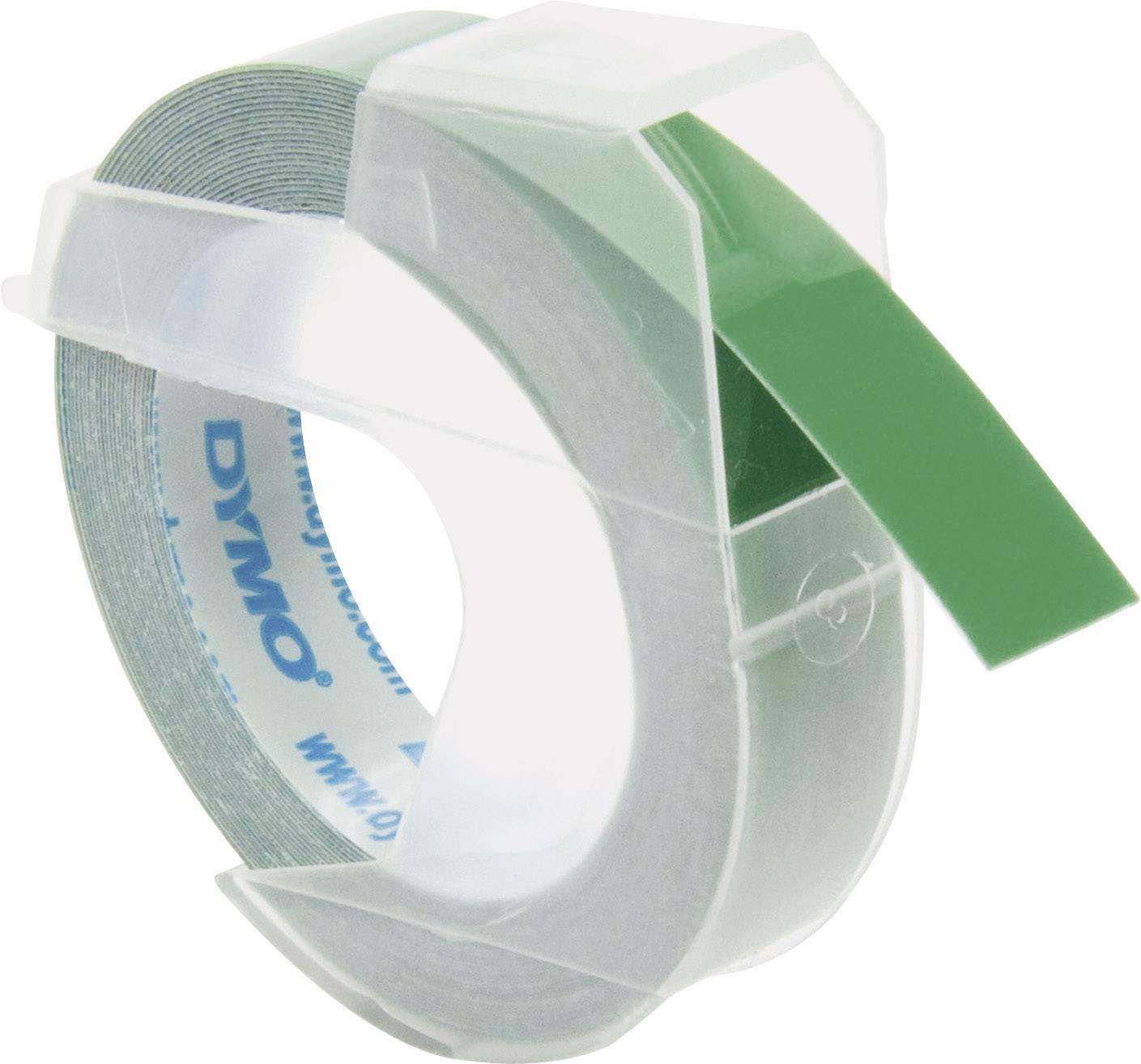 Páska do štítkovača DYMO S0898160, 9 mm, 3 m, biela, zelená