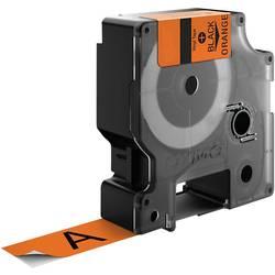 Páska do štítkovače DYMO 18435, oranžová/černá, šířka 12 mm, délka 5.5 m