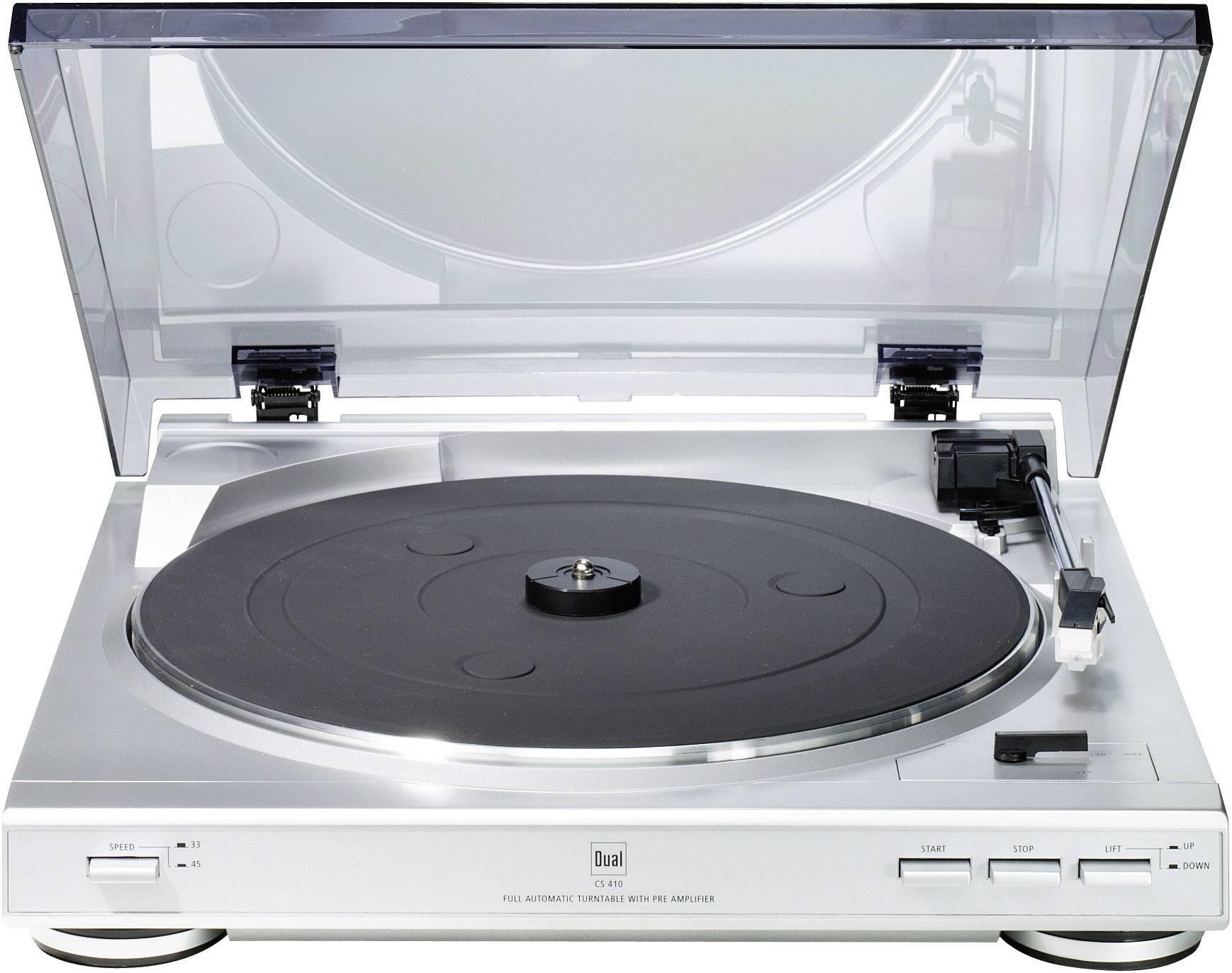 Gramofón Dual CS 410 s remienkovým náhonom, strieborná