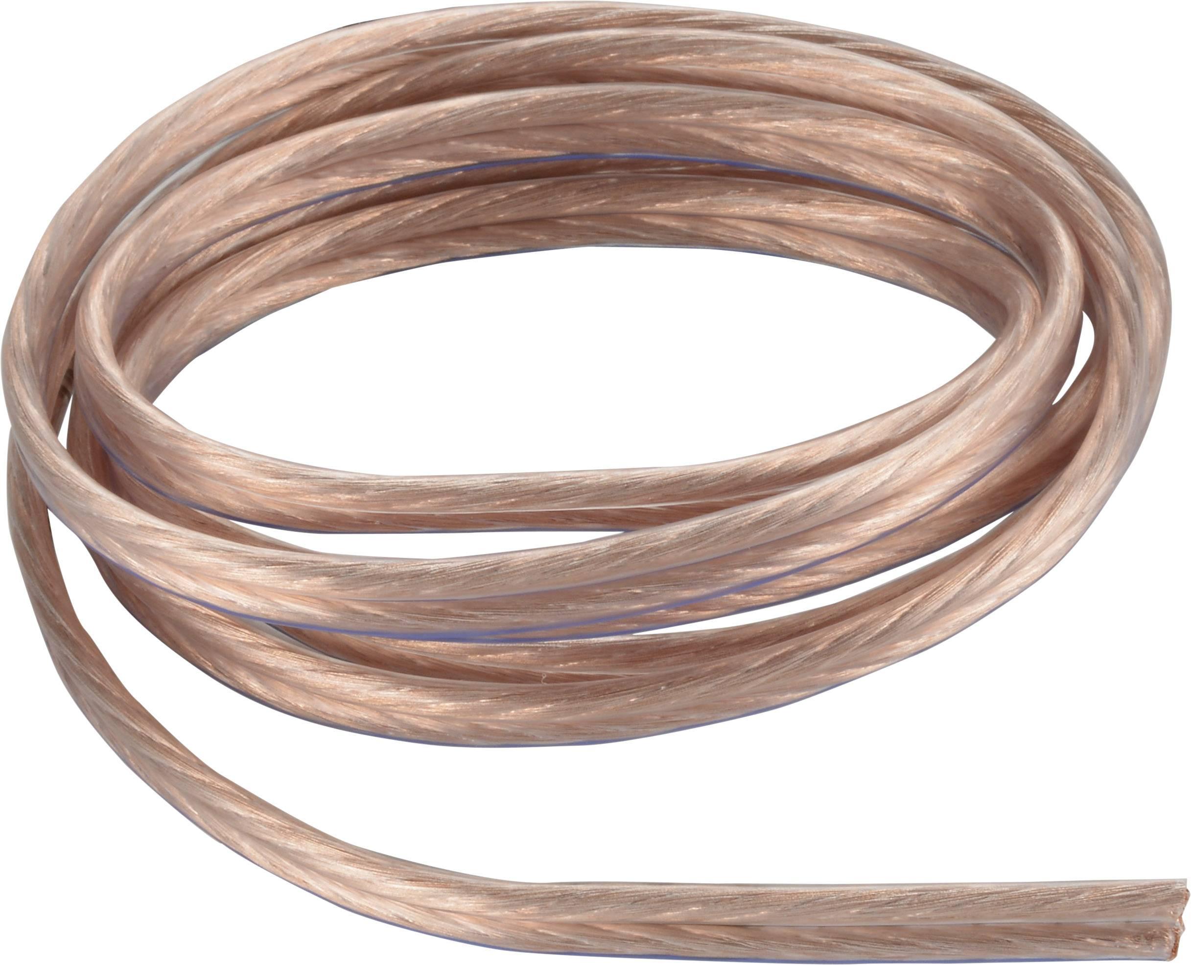 Kábel k reproduktoru AIV 23403T, 2 x 0.75 mm², priehľadná, metrový tovar