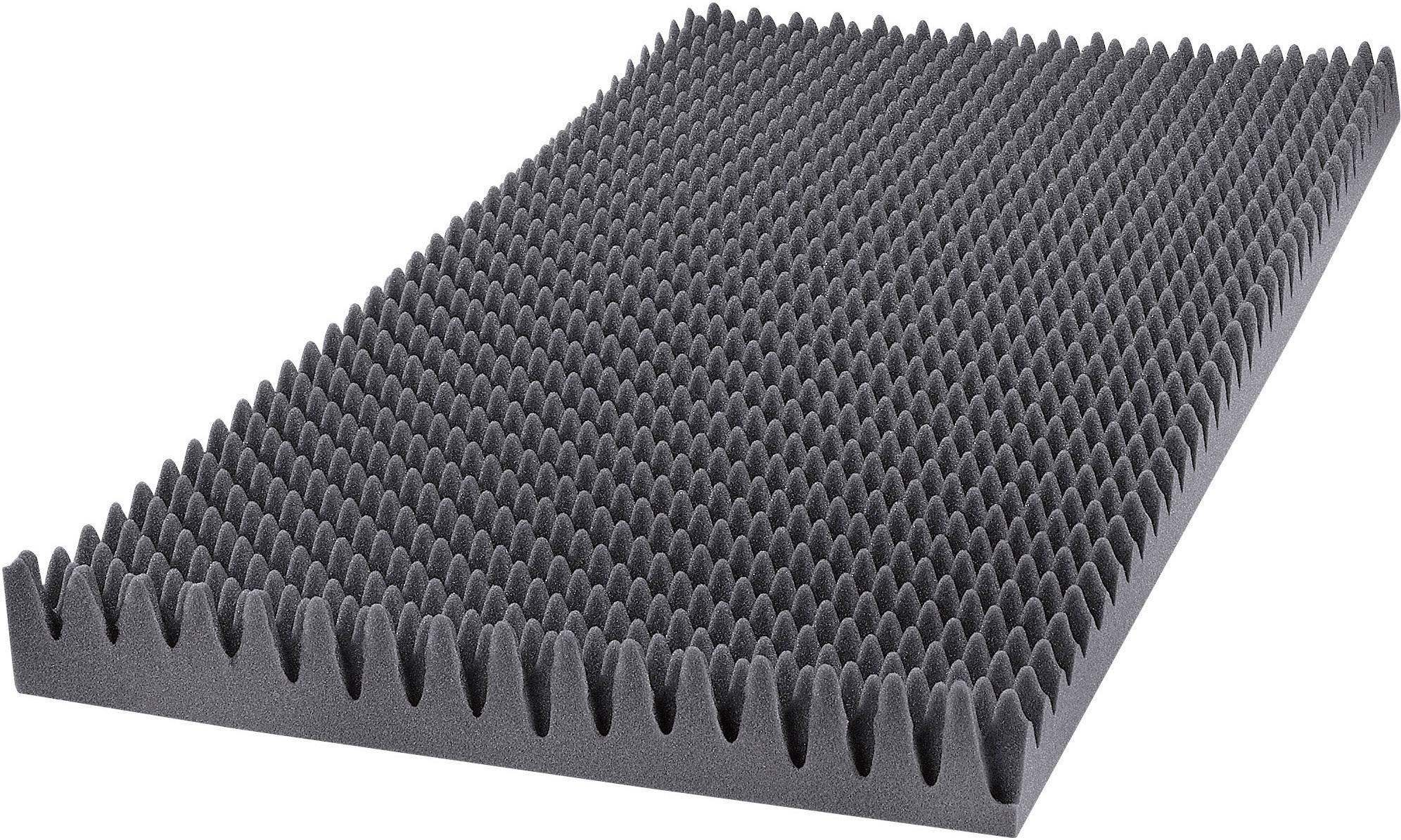 Akustická pena GA25GO, (d x š x v) 1000 x 500 x 60 mm, polyuretán (PU), antracitová