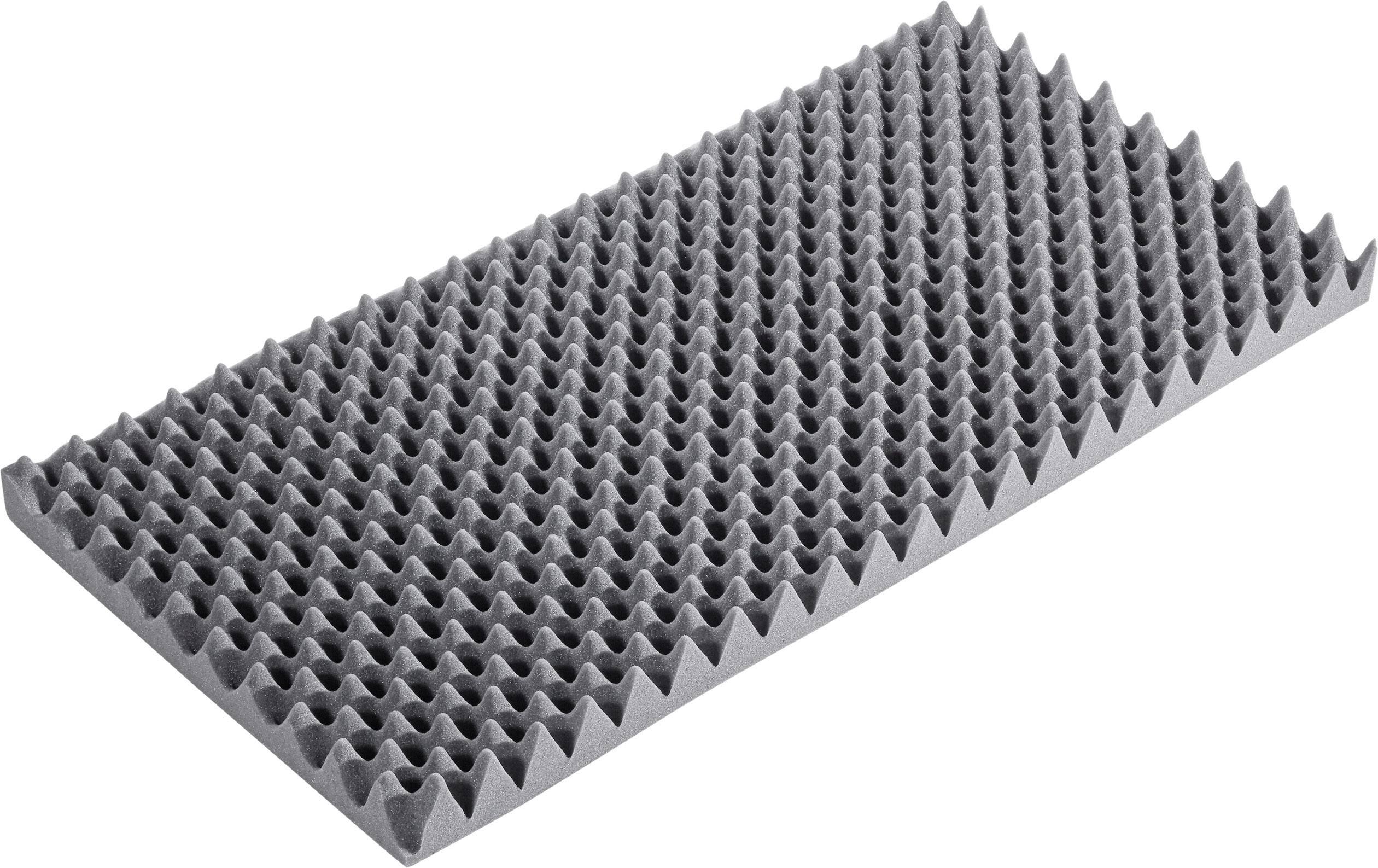 Akustická pena S2640F, (d x š x v) 1000 x 500 x 60 mm, antracitová