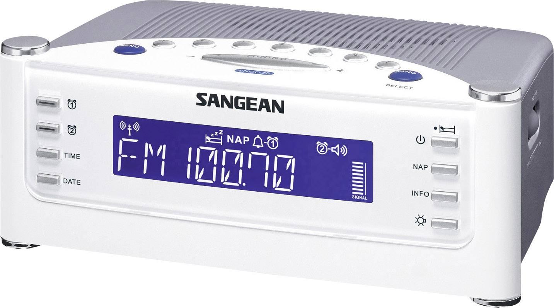 FM rádiobudík Sangean RCR-22, AUX, MW, UKW, biela, strieborná