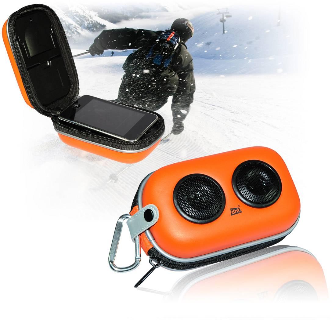 Mini reproduktor dnt SOUNDBOX X-01 AUX, outdoorová/ý oranžová