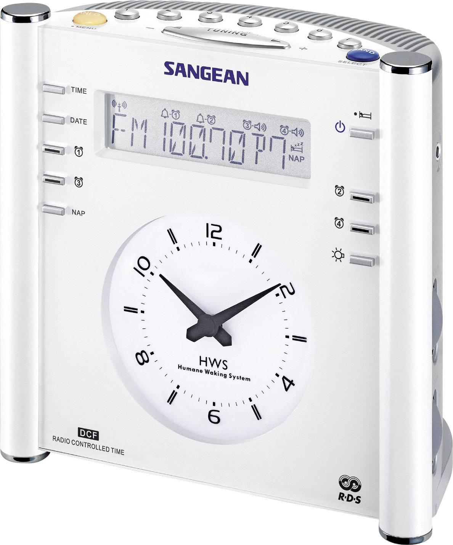 FM rádiobudík Sangean RCR-3, AUX, MW, UKW, biela