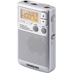 FM kapesní rádio Sangean Pocket 250, SV, FM, stříbrná