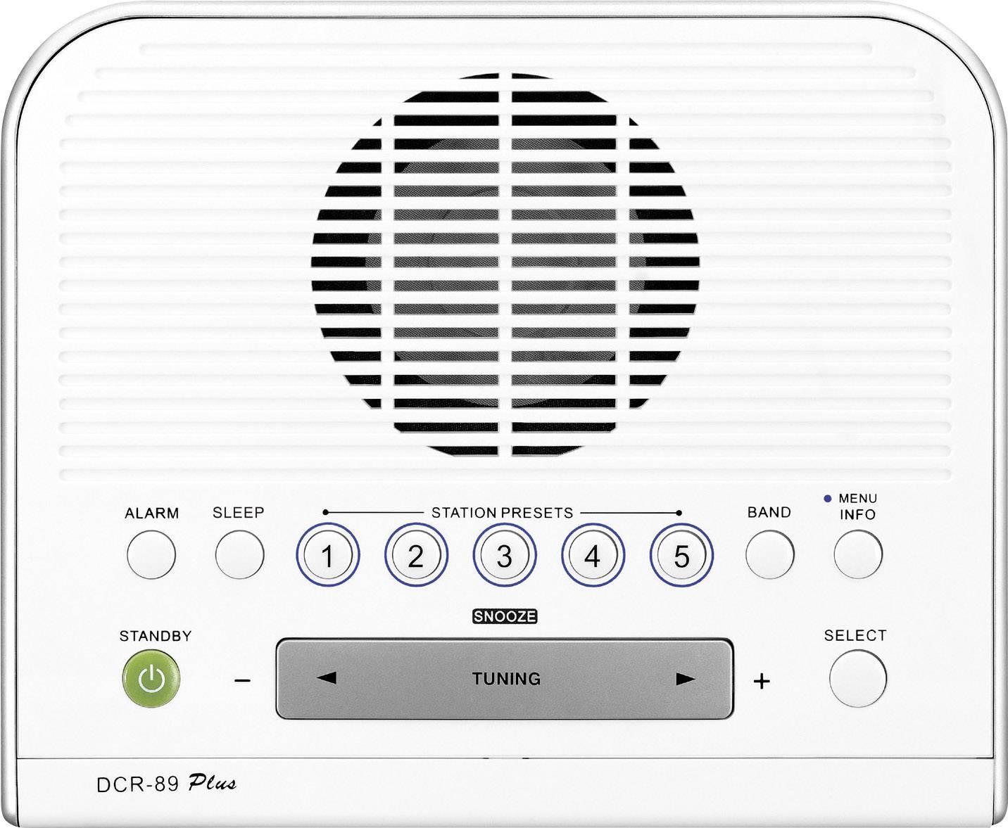 DAB+ rádiobudík Sangean DCR-89 +, FM, biely