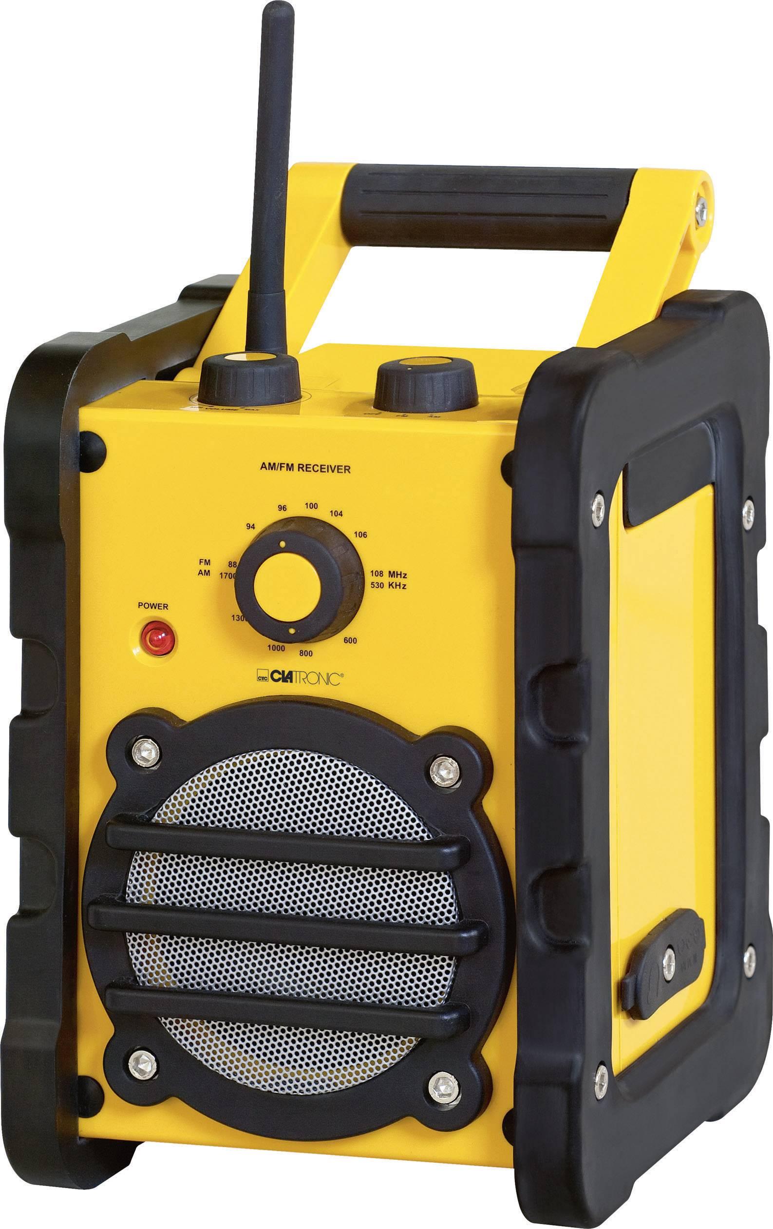 FM outdoorové rádio Clatronic BR 816, AUX, MW, UKW, žltá, čierna