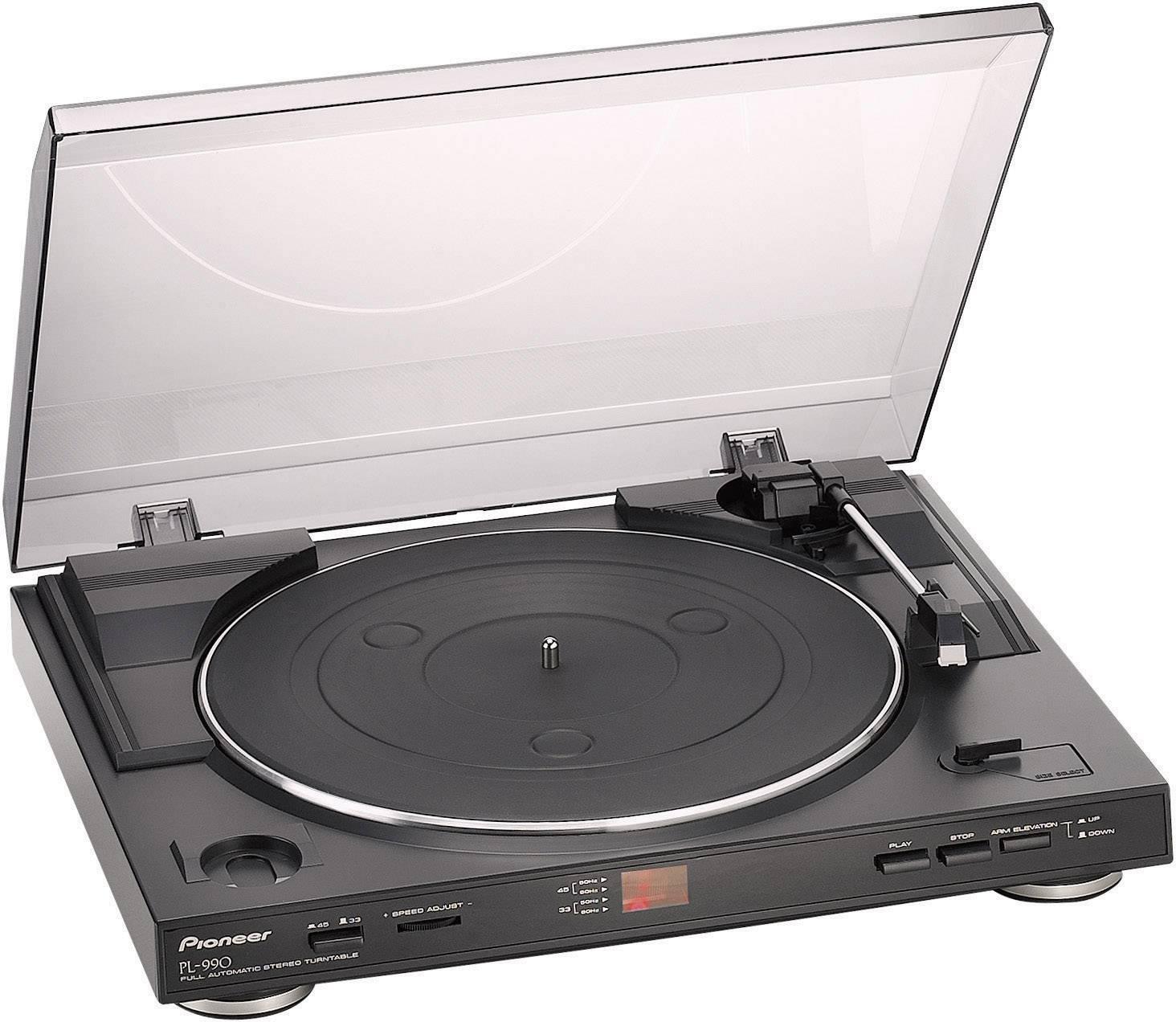 Gramofón Pioneer PL-990/6, s remienkovým náhonom, čierna