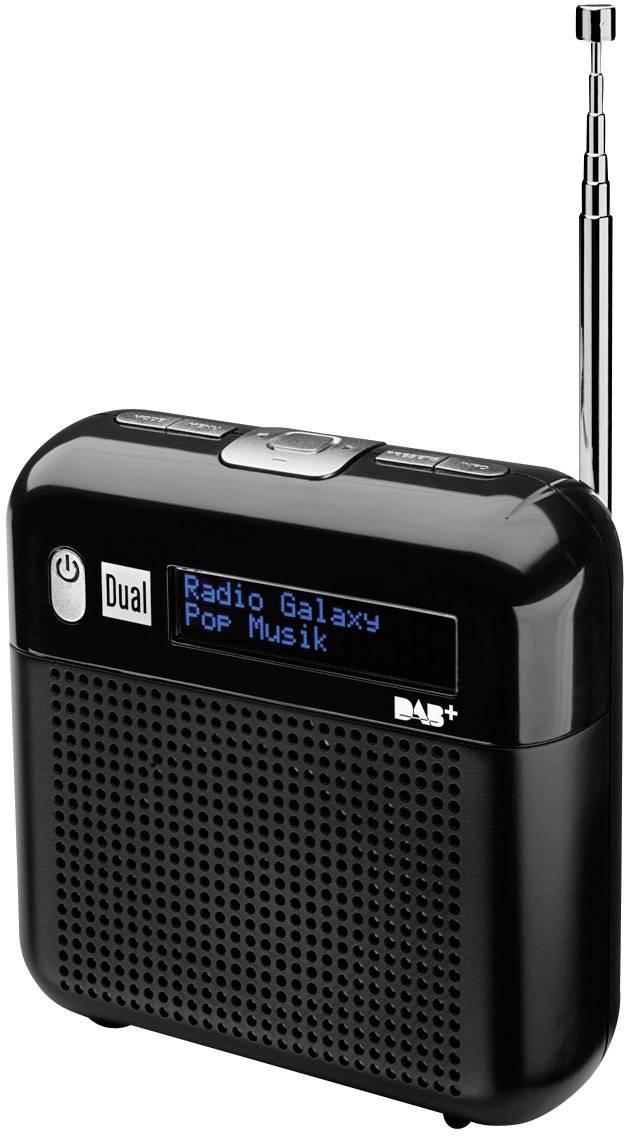 DAB + rádio Dual DAB 7, FM, čierna