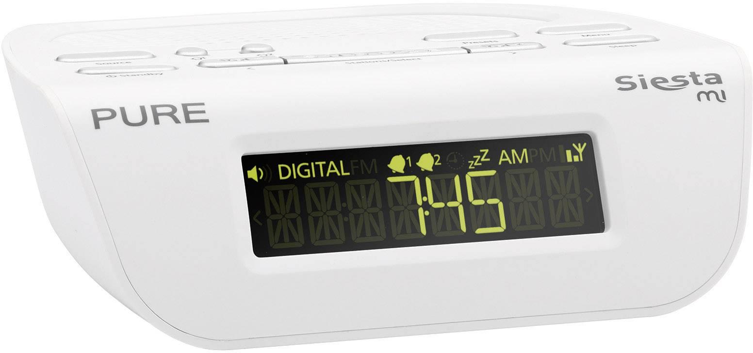 DAB+ rádiobudík Pure Siesta Mi Serie II, FM, biely