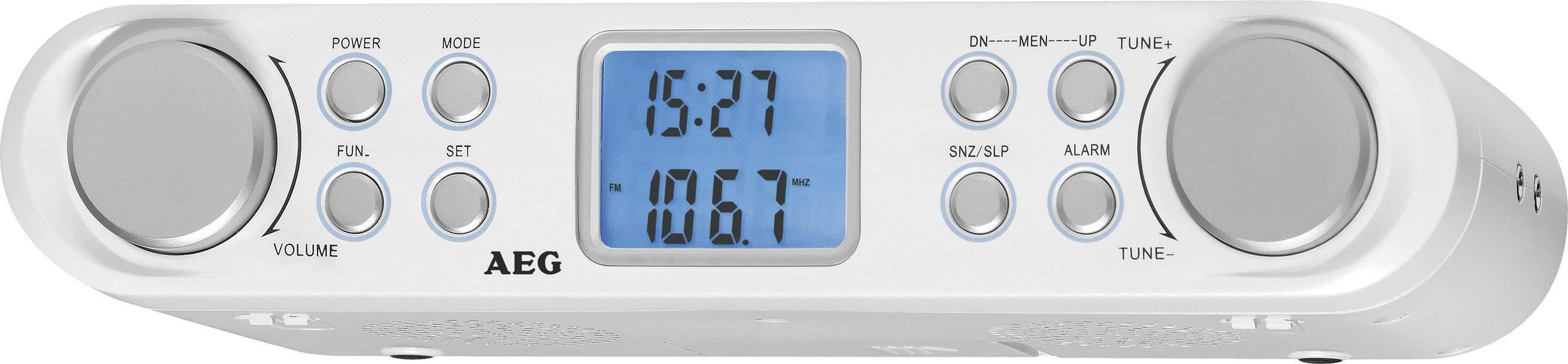 FM závesné rádio do kuchyne AEG KRC 4344, UKW, biela