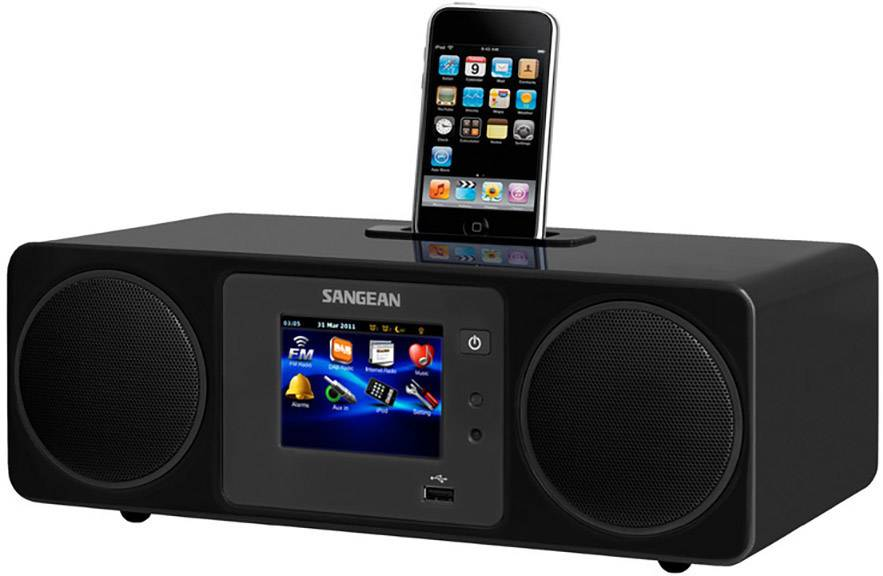 Internetové a DAB+ rádio Sangean WFR-2, DLNA, iPhone/iPad