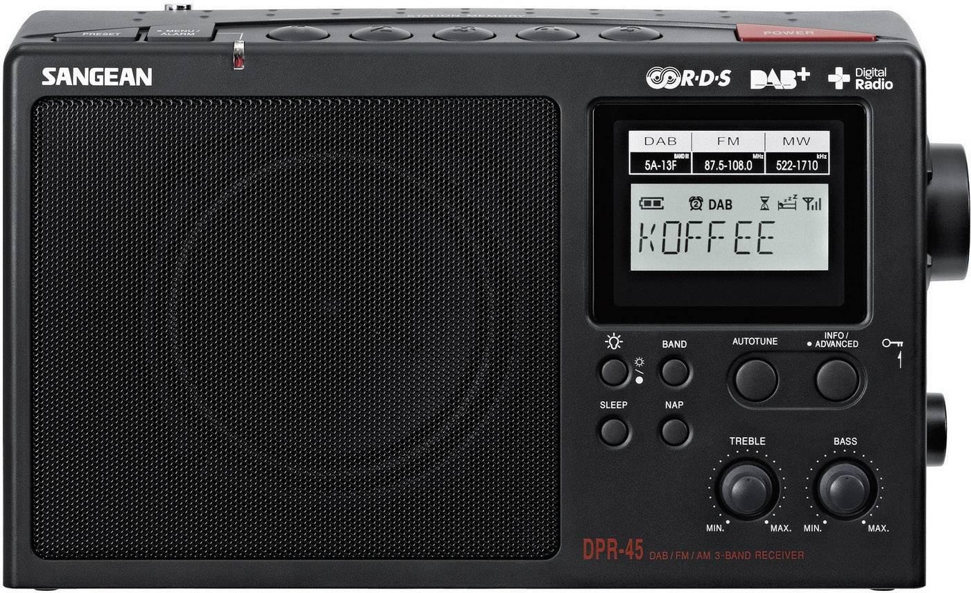 DAB+ rádio Sangean DPR-45, FM/AM, čierne