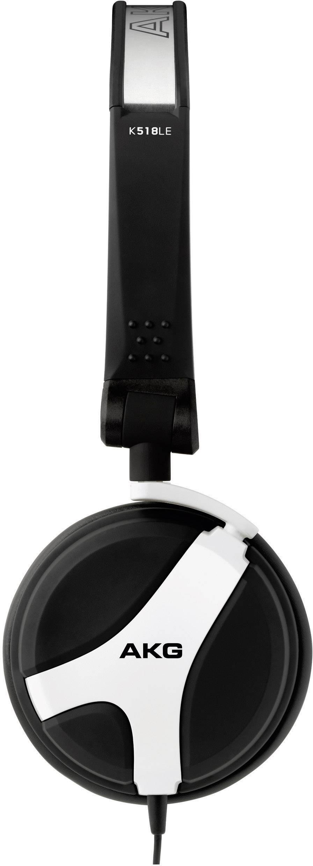 DJ mono slúchadlá s mikrofónom AKG Harman K 518 LE, biela