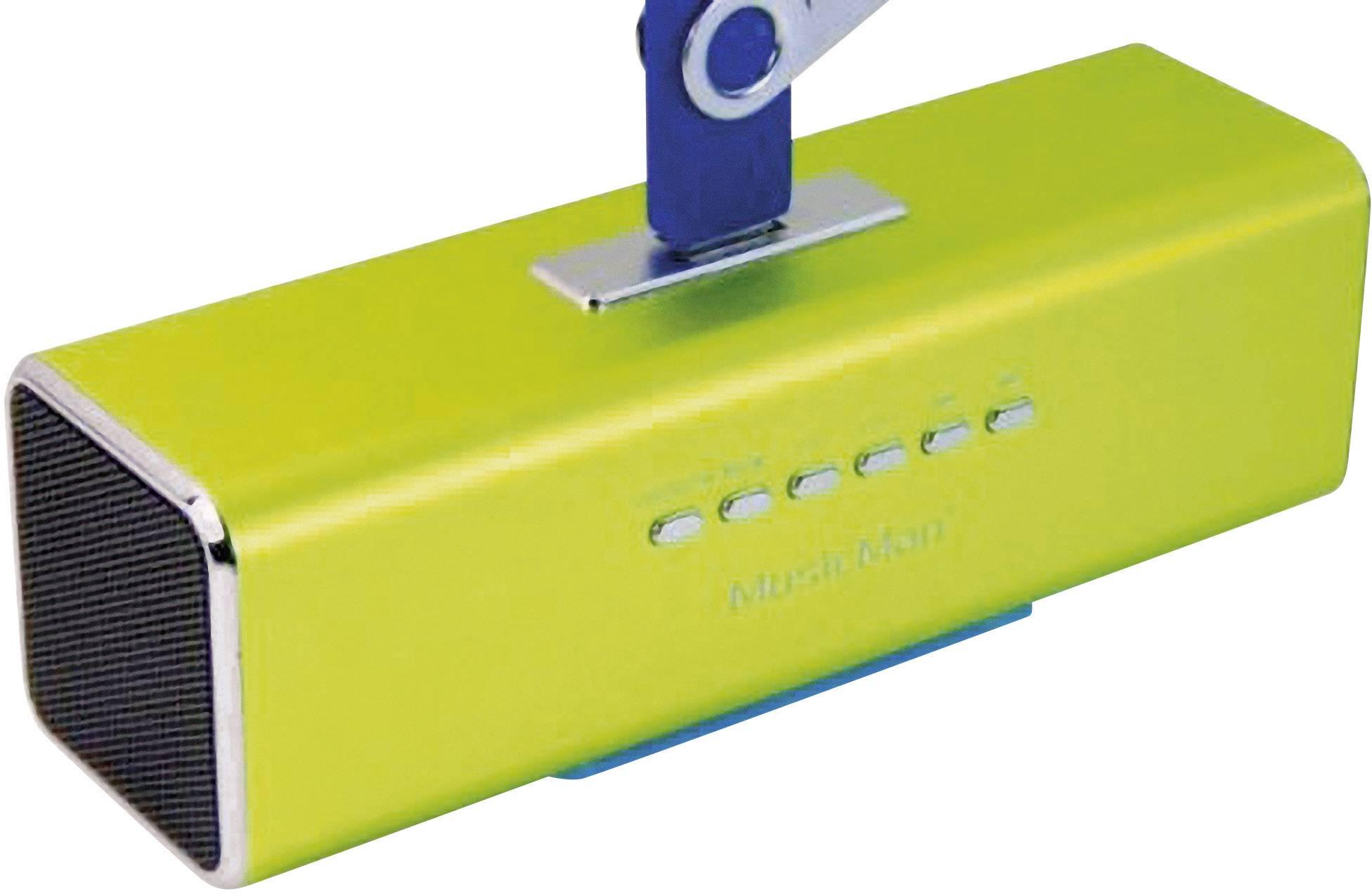 Mini reproduktor Technaxx MusicMan MA Lautsprecher AUX, FM rádio, USB, SD zelená