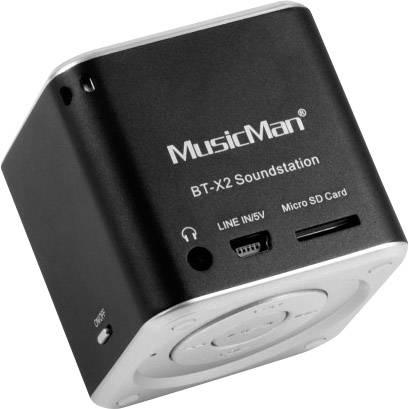 Bluetooth® reproduktor s čítačkou MicroSD kariet, Technaxx Musicman BT-X2, čierna