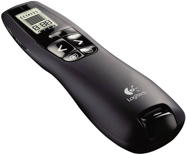 Bezdrôtový prezentér s laserovým ukazovátkom, s displejom Logitech R700 910-003506, čierna