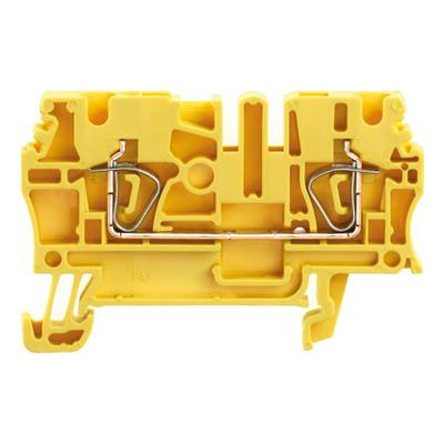 Z-series, Feed-through terminal, Rated cross-section: 2,5 mm², Tension clamp connection, Wemid, Yellow, Busbar ZDU 2.5 GE Weidmüller Množství: 100 ks