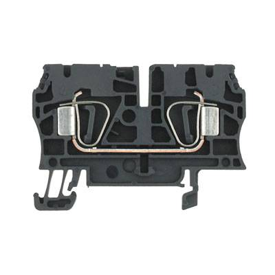Z-series, Feed-through terminal, Rated cross-section: 4 mm², Tension clamp connection, Wemid, Black, Direct mounting ZDU 4 SW Weidmüller Množství: 100 ks