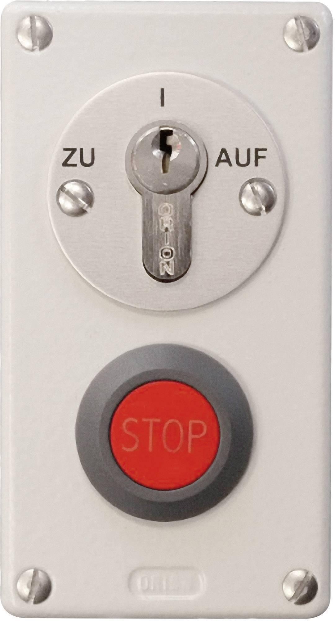 Kľúčový spínač pre pohon brány so STOP tlačítkom Kaiser Nienhaus 322110, na omietku