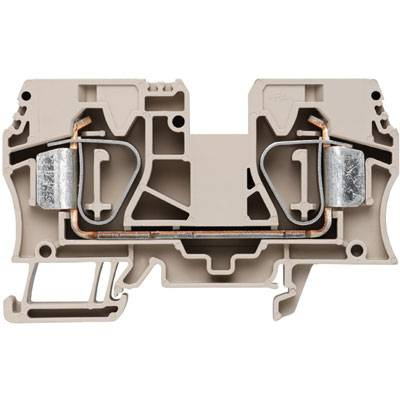 Z-series, Feed-through terminal, Rated cross-section: 16 mm², Tension clamp connection, Wemid, Dark Beige, ZDU 16 Weidmüller Množství: 25 ks