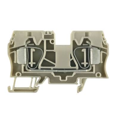 Z-series, Feed-through terminal, Rated cross-section: 10 mm², Tension clamp connection, Direct mounting ZDU 10 OR Weidmüller Množství: 25 ks
