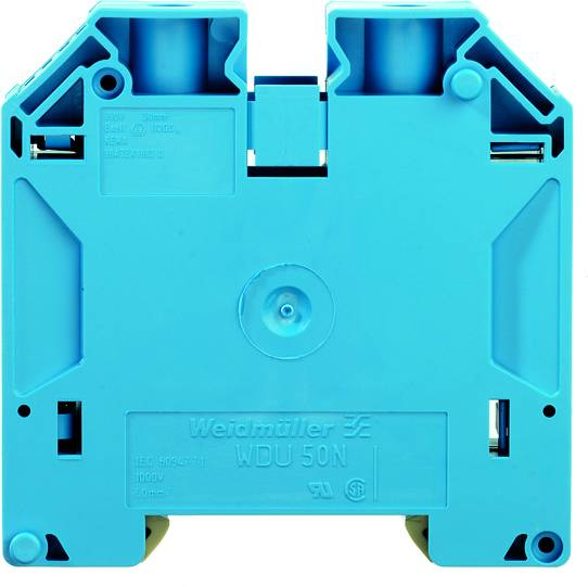 W-Series, Feed-through terminal, Rated cross-section: 50 mm², Screw connection, Blue WDU 50N BL Weidmüller Množství: 10 ks