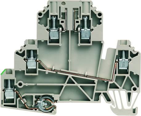 W-Series, Test-disconnect terminal, Rated cross-section: 2,5 mm², Screw connection WDK 2.5/TR-DU-PE/O TNHE Weidmüller Množství: 50 ks
