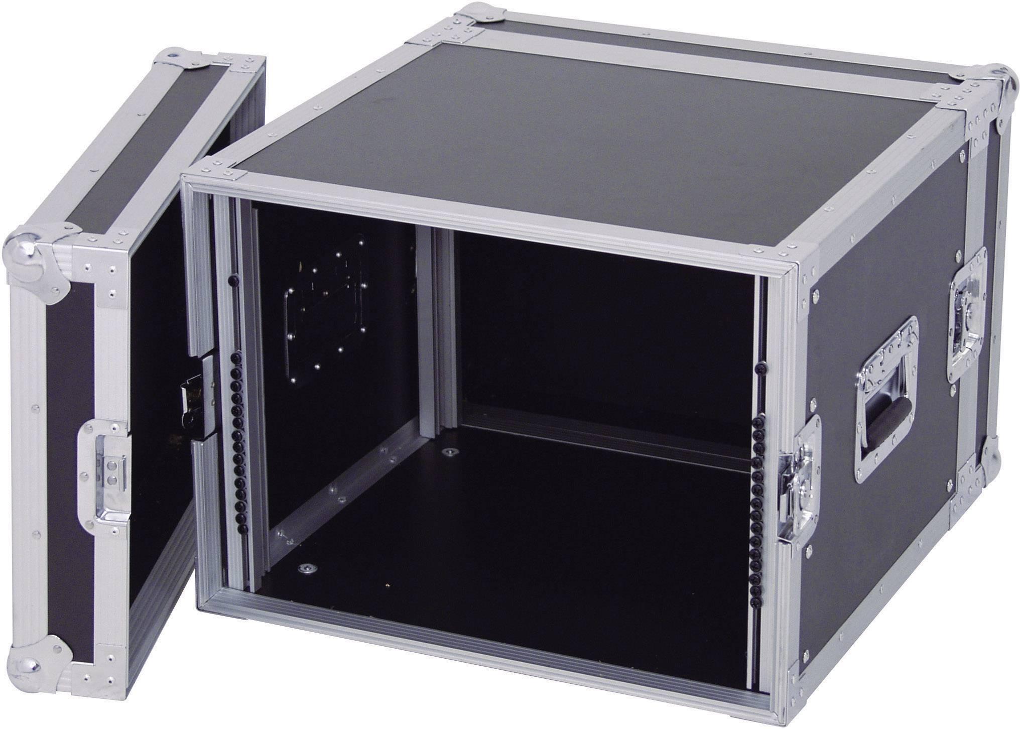 19-palcový rack na zosilňovače 30109788 360005, 8 U, drevo
