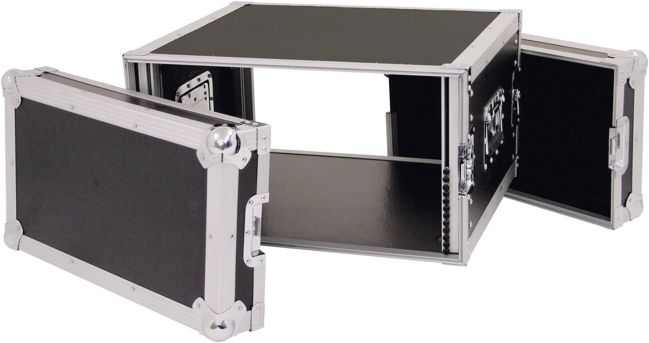 19-palcový rack na zosilňovače 30109786 360007, 6 U, drevo