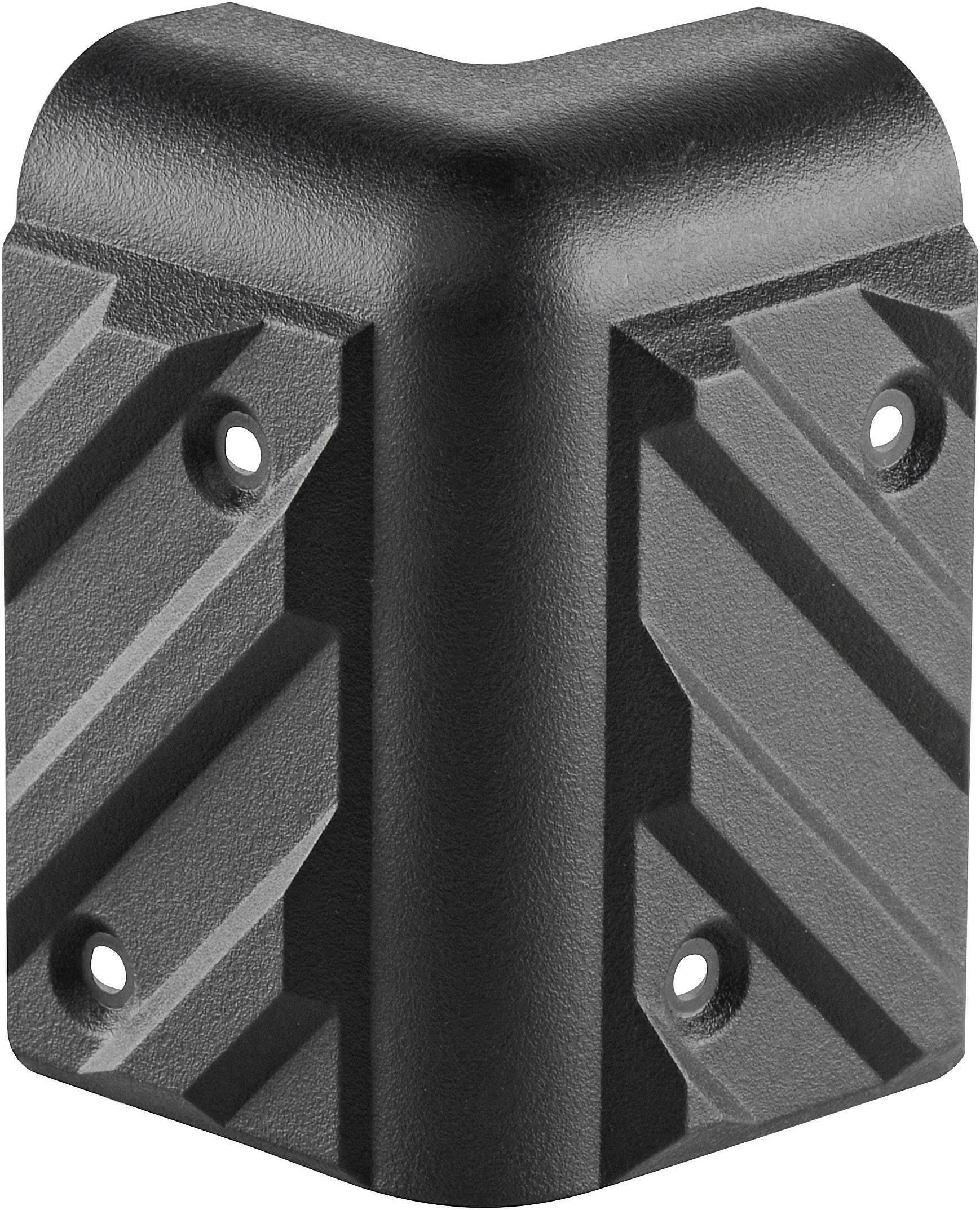 Ochranní roh na reproboxy 8270, (d x š) 80 mm x 47 mm, plast