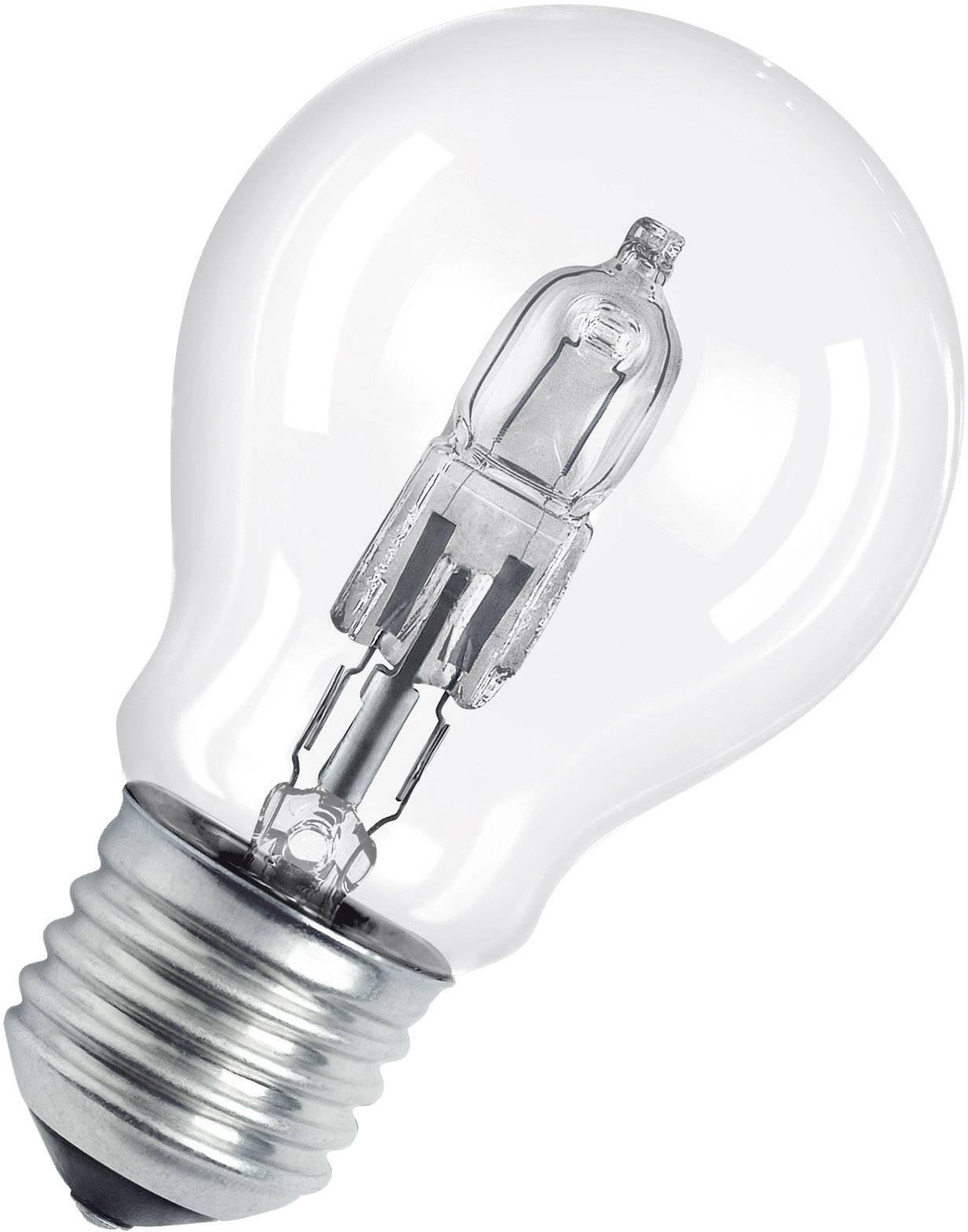 ECO halogénová žiarovka OSRAM 230 V, E27, 57 W, en.trieda: D, teplá biela, 1 ks