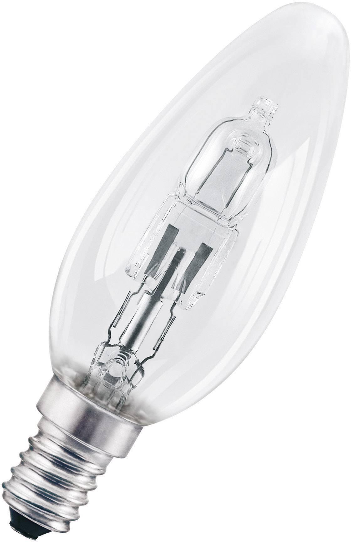 ECO halogénová žiarovka OSRAM 230 V, E14, 46 W, en.trieda: D, teplá biela, 1 ks