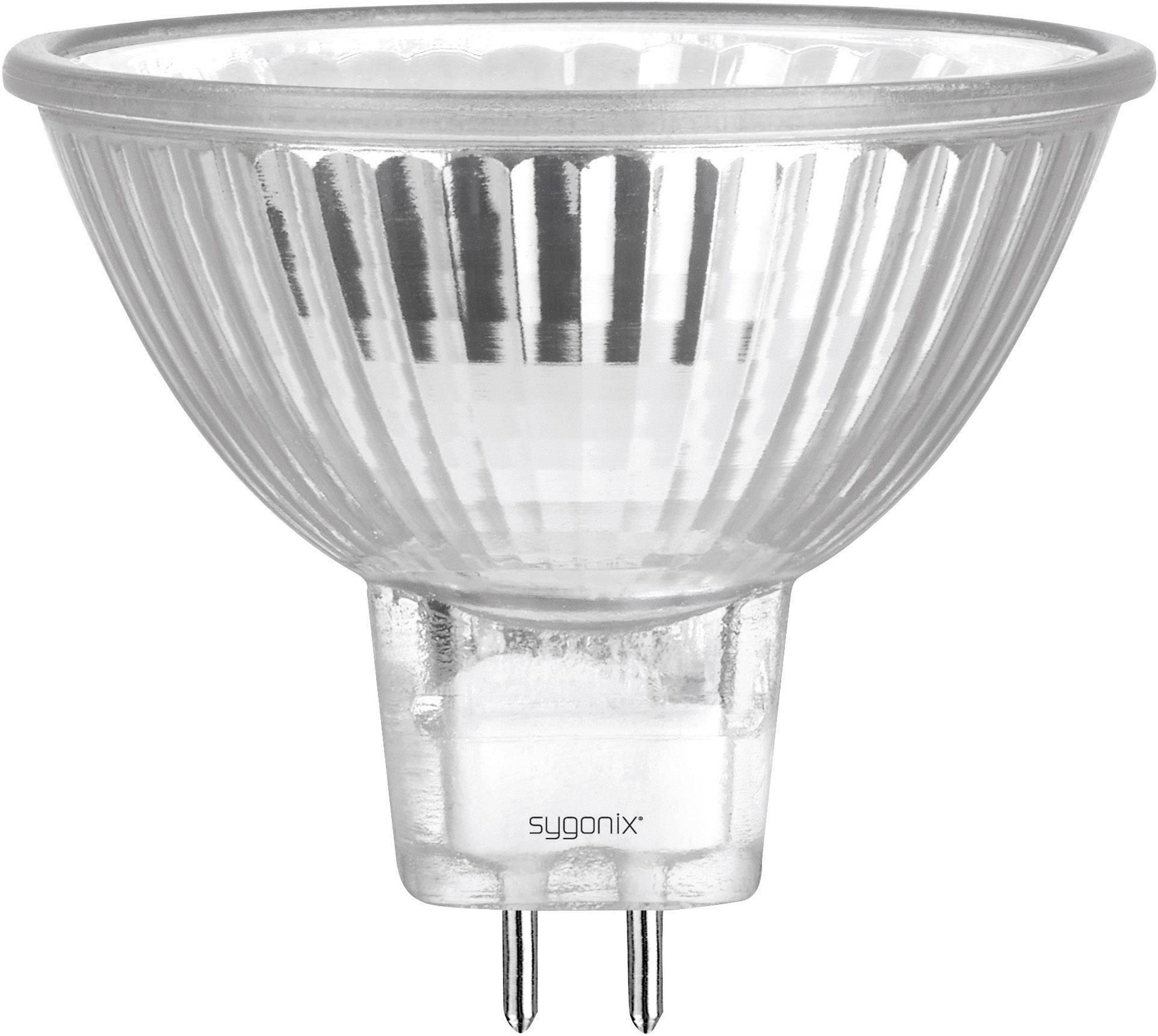 ECO halogénová žiarovka Sygonix 12 V, GU5.3, 20 W, en.trieda: C, teplá biela, 1 ks