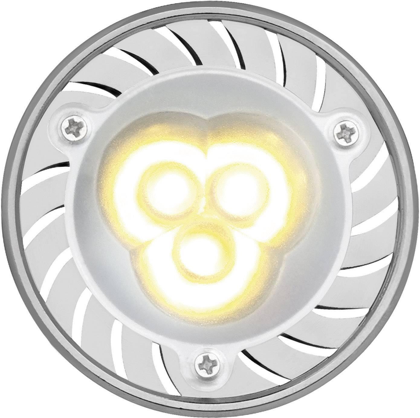 LED žiarovka MR16, GU5.3, 3.8 W, teplá biela