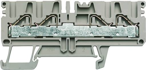 P-series, Feed-through terminal, Rated cross-section: 4 mm², PUSH IN, PDU 2.5/4/4AN Weidmüller Množství: 100 ks