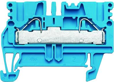 P-series, Feed-through terminal, Rated cross-section: 4 mm², PUSH IN, PDU 2.5/4 BL Weidmüller Množství: 100 ks