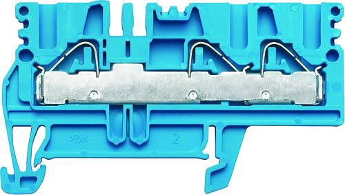 P-series, Feed-through terminal, Rated cross-section: 4 mm², PUSH IN, PDU 2.5/4/3AN BL Weidmüller Množství: 100 ks