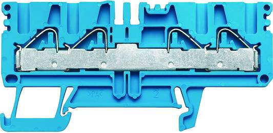P-series, Feed-through terminal, Rated cross-section: 4 mm², PUSH IN, PDU 2.5/4/4AN OR Weidmüller Množství: 100 ks