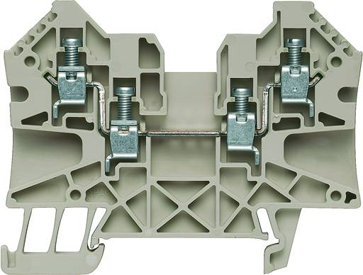 W-Series, Feed-through terminal, Rated cross-section: 4 mm², Screw connection, Direct mounting WDU 4/ZZ Weidmüller Množství: 50 ks