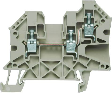 W-Series, Feed-through terminal, Rated cross-section: 4 mm², Screw connection, Direct mounting WDU 4/ZR Weidmüller Množství: 50 ks