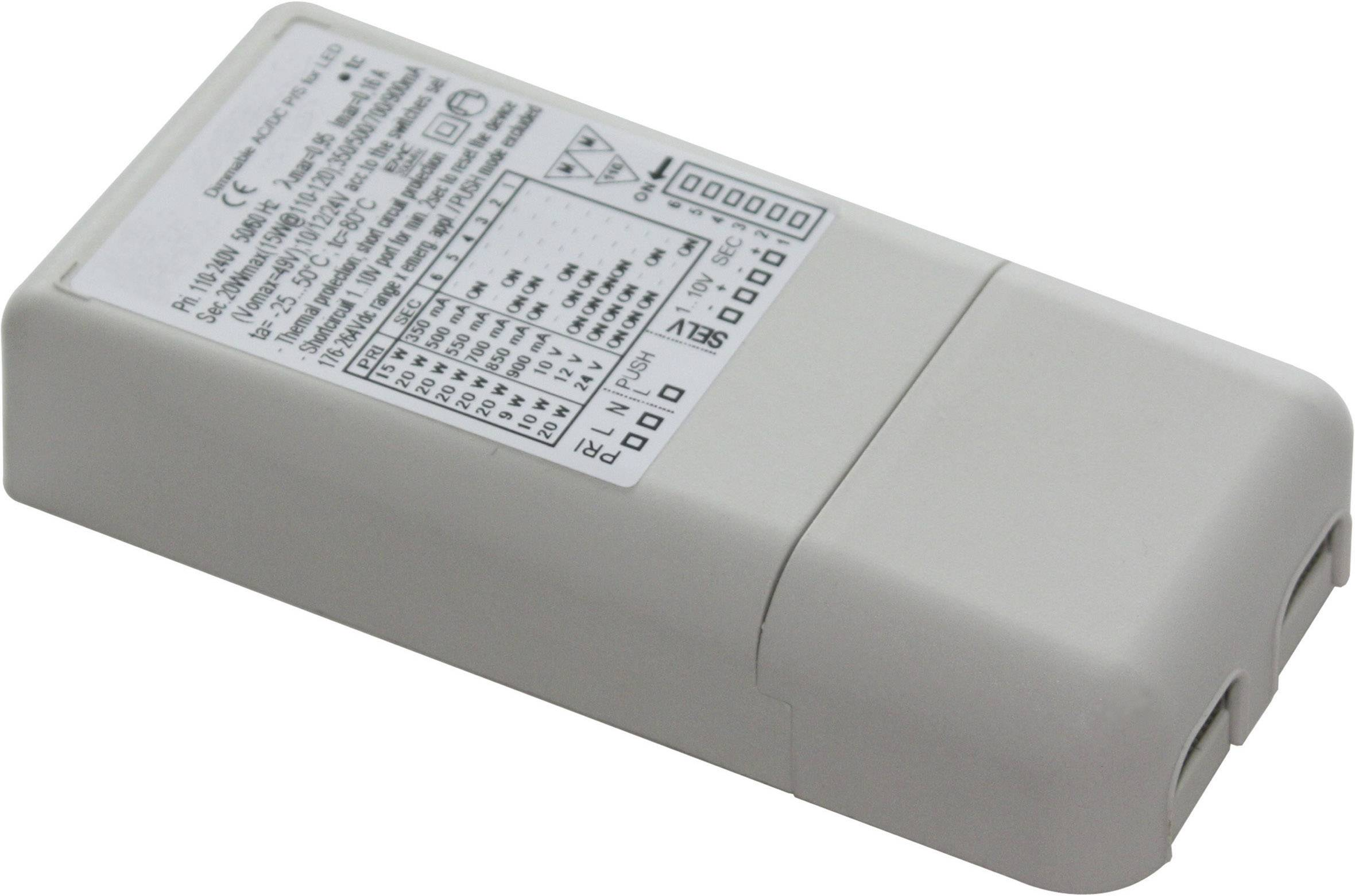LED konvertor Universal 20W, 350-900 mA, 100-264 V/AC, 176-264 V/DC