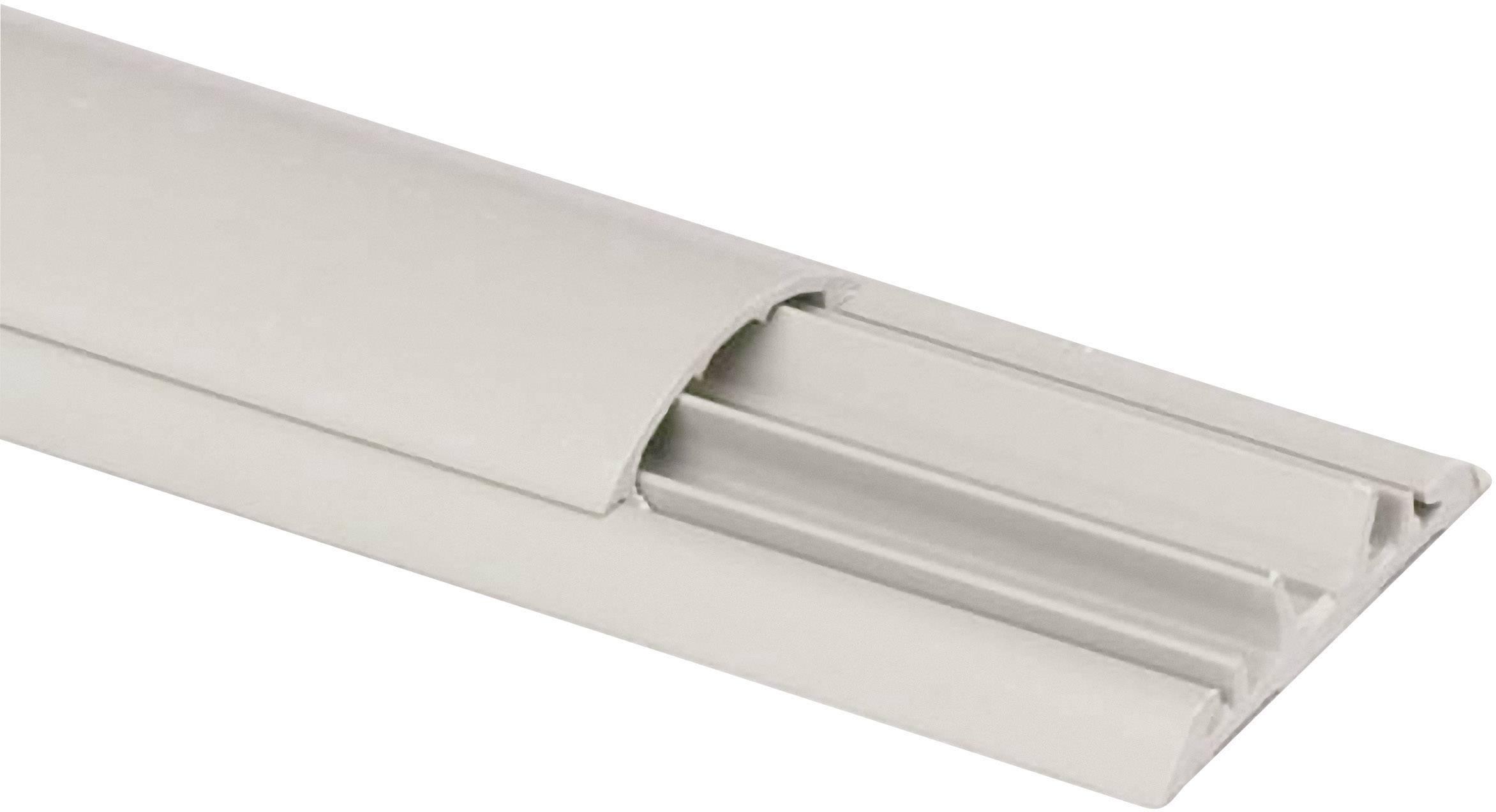 Podlahová káblová lišta Heidemann 09803, 1 ks, sivá