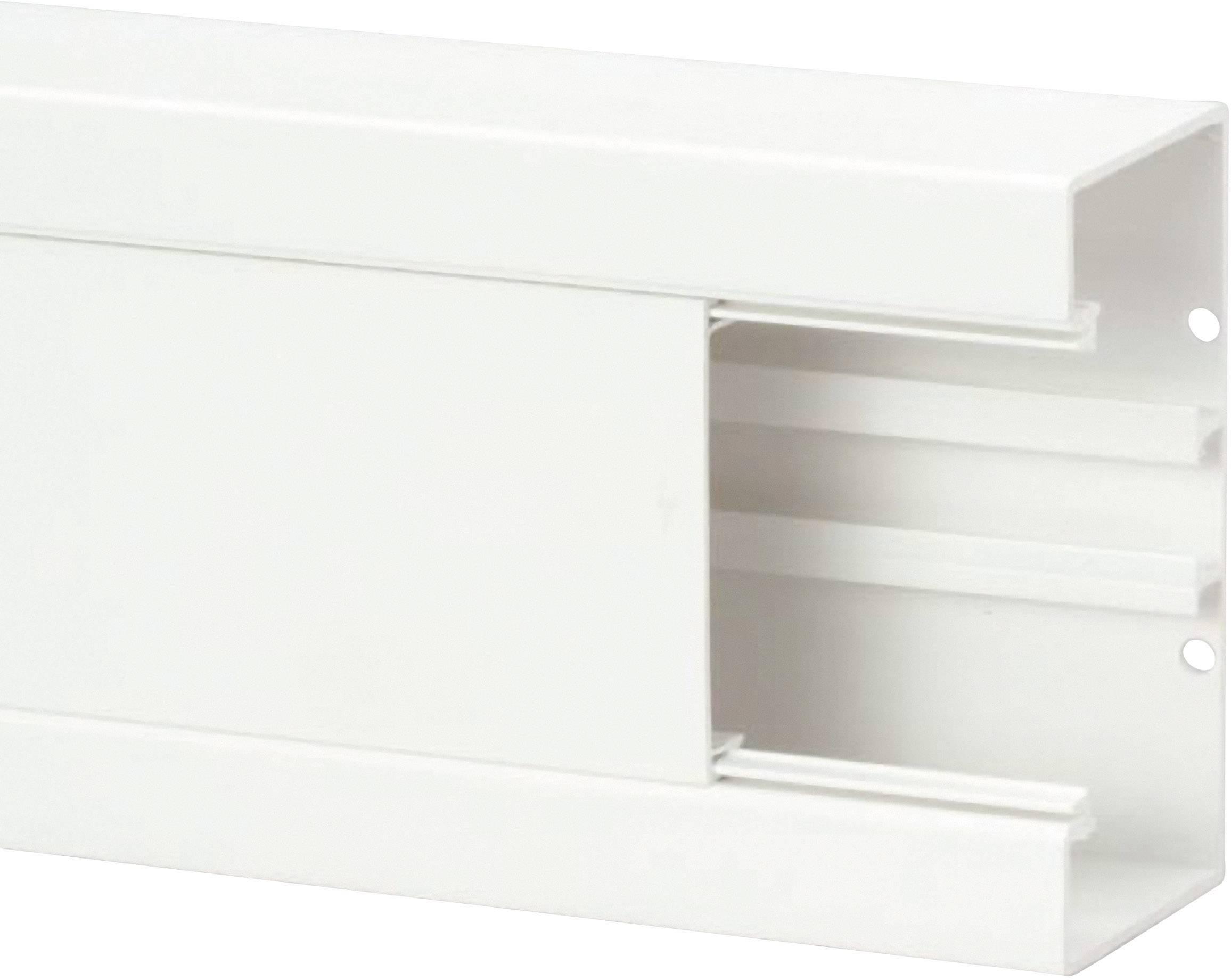 Parapetní lišta na kabely Heidemann, 09823, 130 x 65 mm, bílá