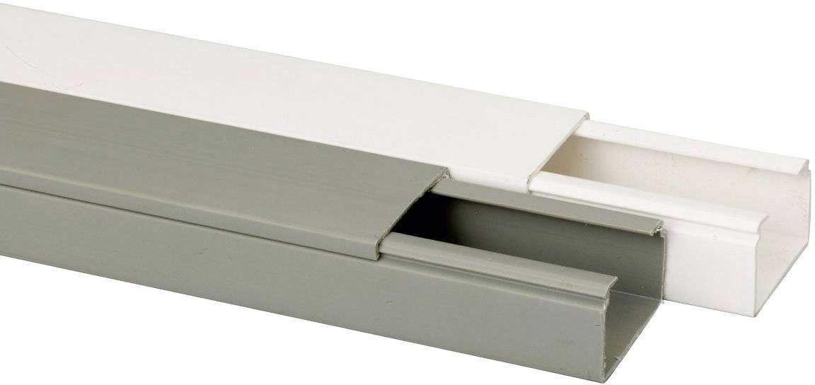 Káblová lišta Heidemann 09962, 1 ks, čisto biela
