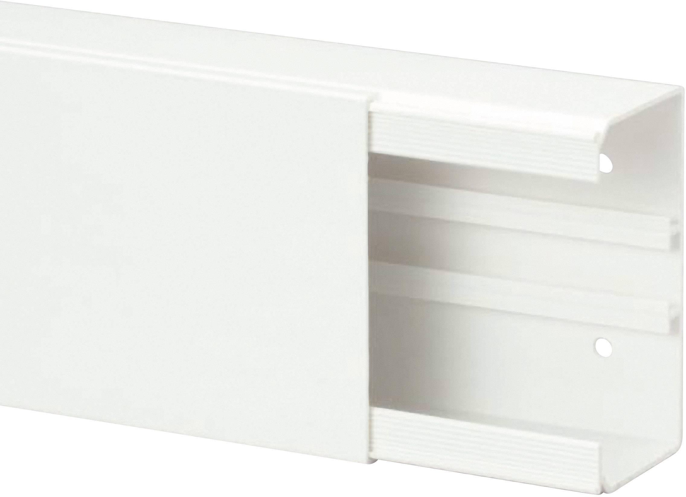 Káblová lišta Heidemann 09996, 1 ks, čisto biela